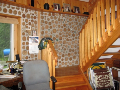 Cordwood House | Chartreuse Blog on cob homes design, log homes design, simple small house design, brick homes design, straw homes design, prefab round home design, yurt home design, earthship homes design, energy homes design,